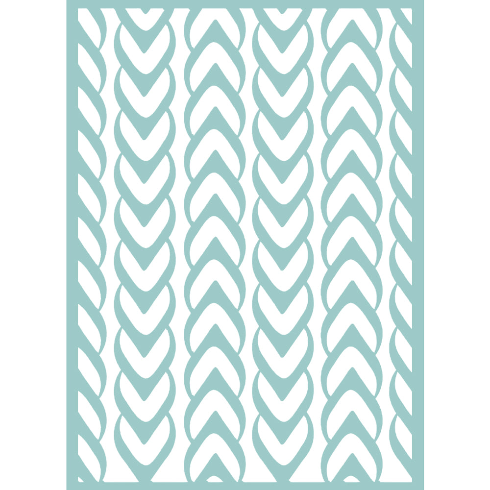 5x7 Embossing Folder: The Harmony (Weaved)