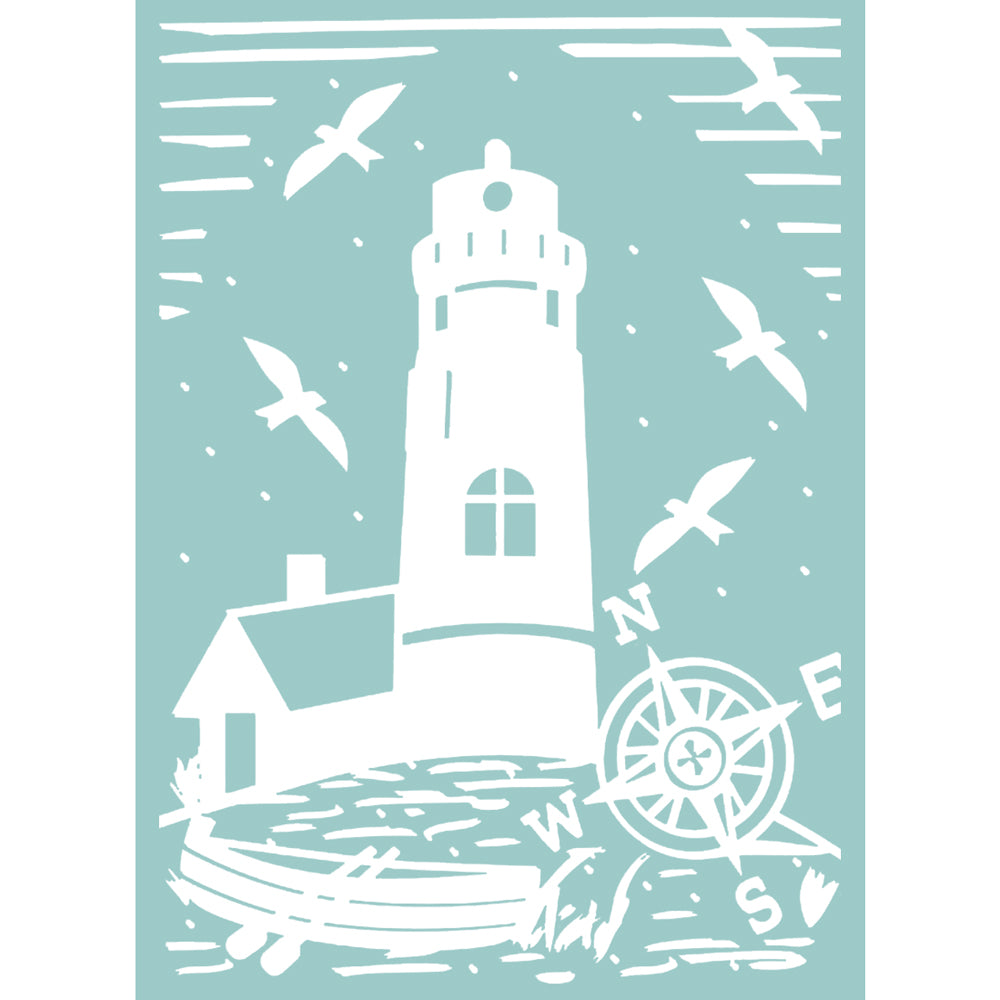 5x7 Embossing Folder: The Harmony (Lighthouse)