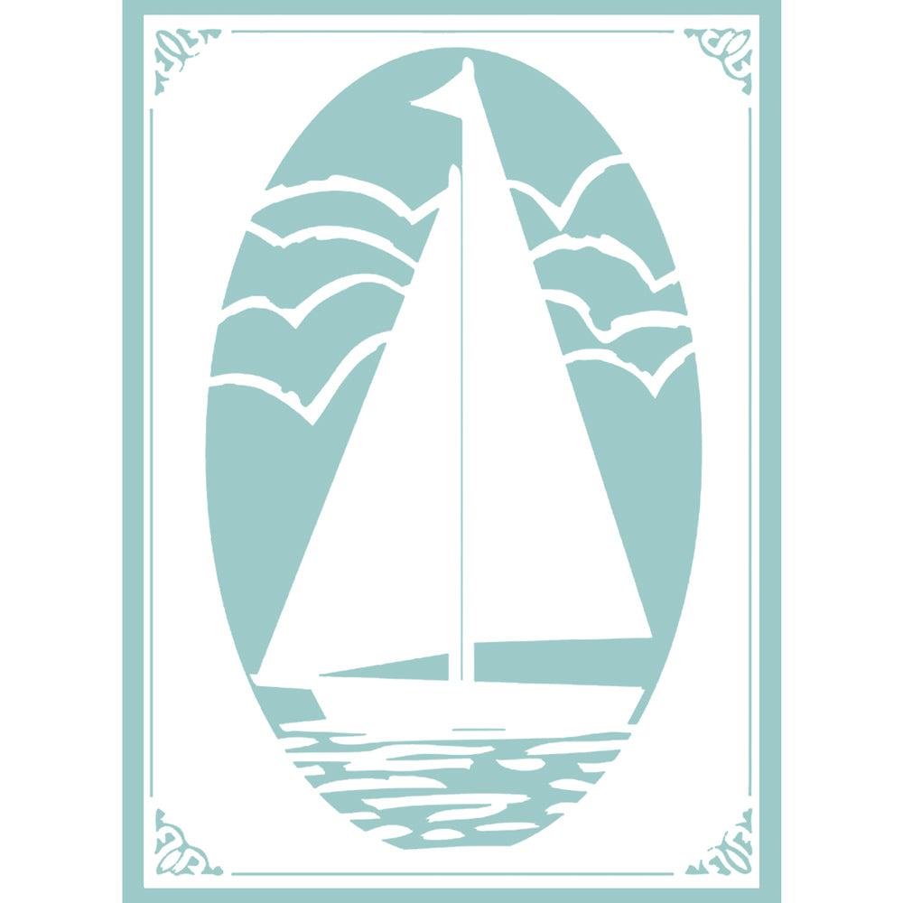 5x7 Embossing Folder: The Harmony (Sail Away)