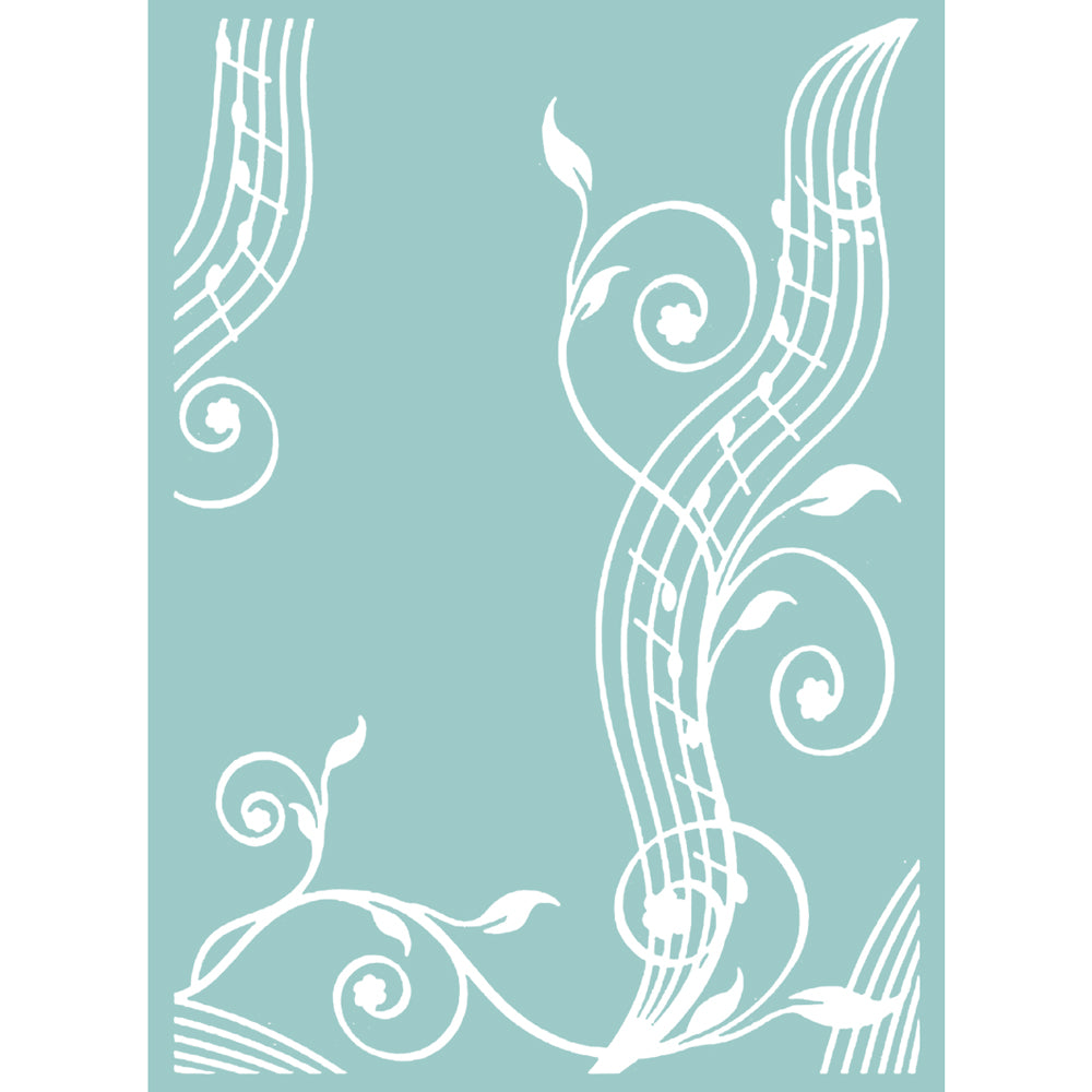 Mikashet Musical Flourish 5x7 Embossing Folder