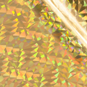 GoPress and Foil Gold Iridescent Triangular Pattern Foil