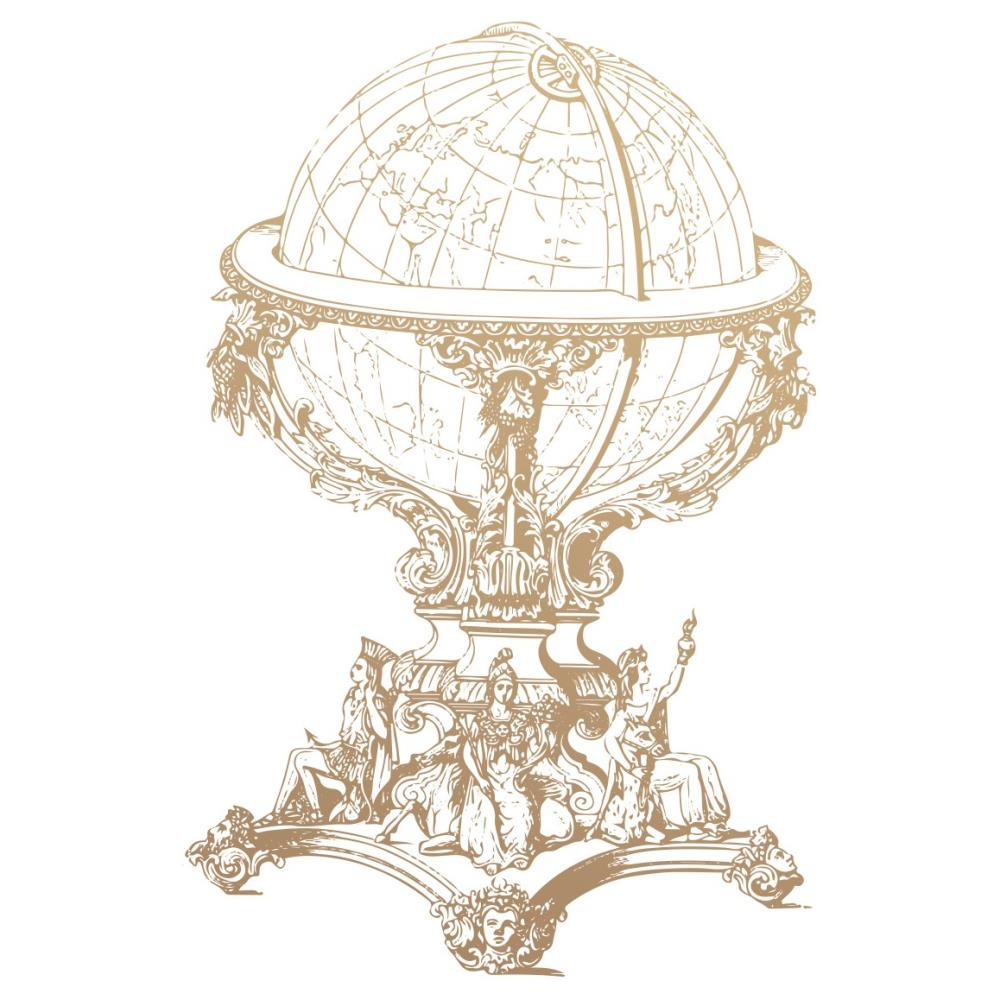 New Adventures Vintage Globe Mini Stamp