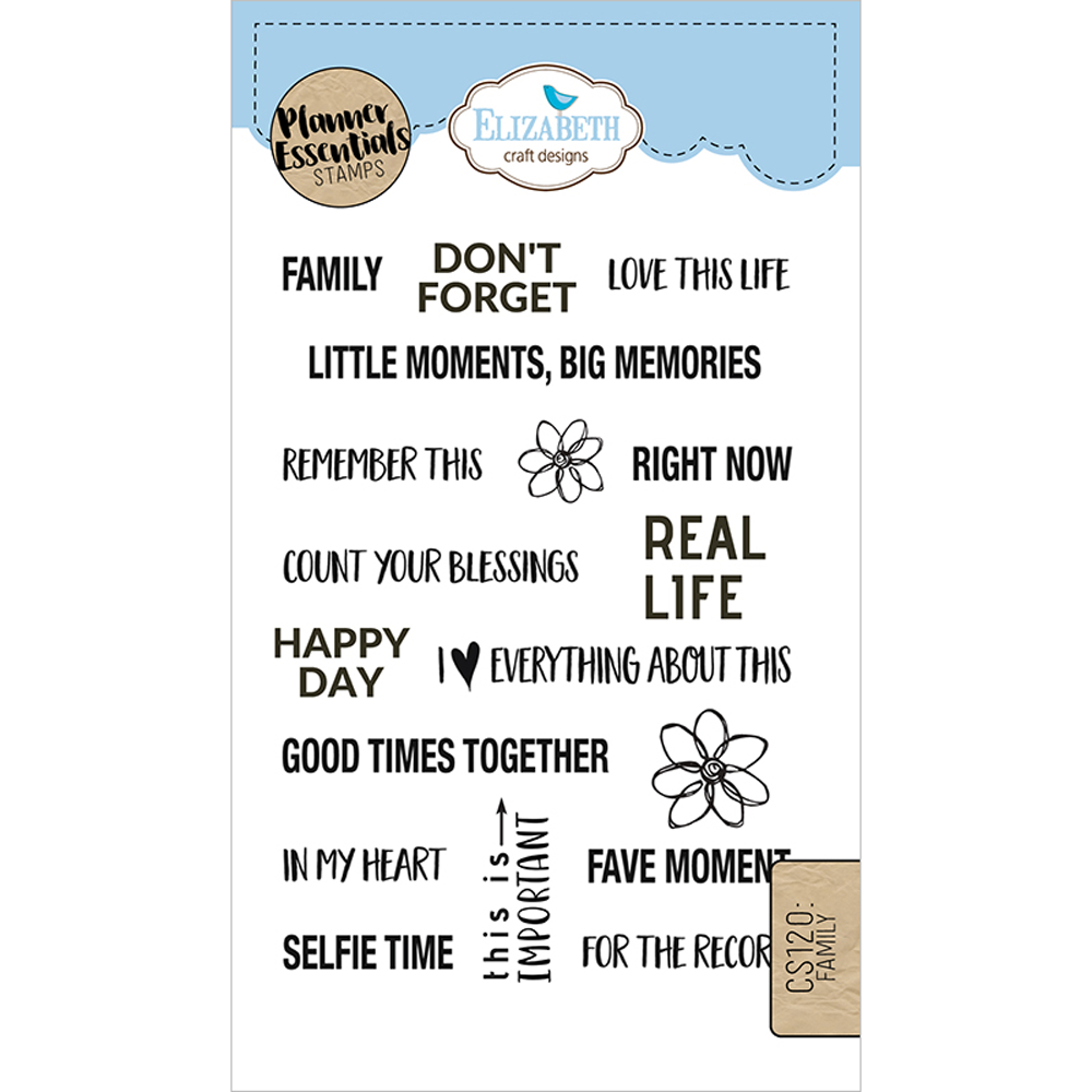 Planner Essentials 4x6 Clear Stamp Set: Family