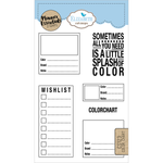 Planner Essentials 4x6 Clear Stamp Set: Color Chart