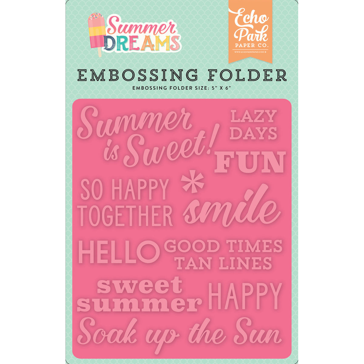 6x5 Embossing Folder: Summer Dreams (Summer is Sweet)