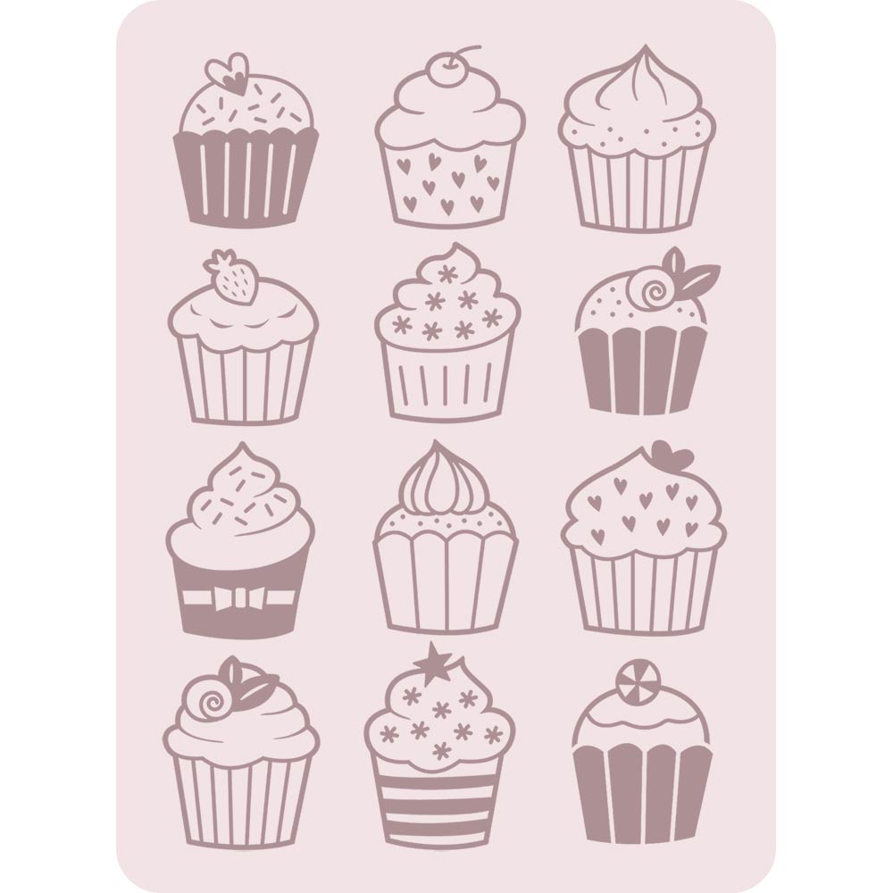 A2 Embossing Folder: Cupcakes