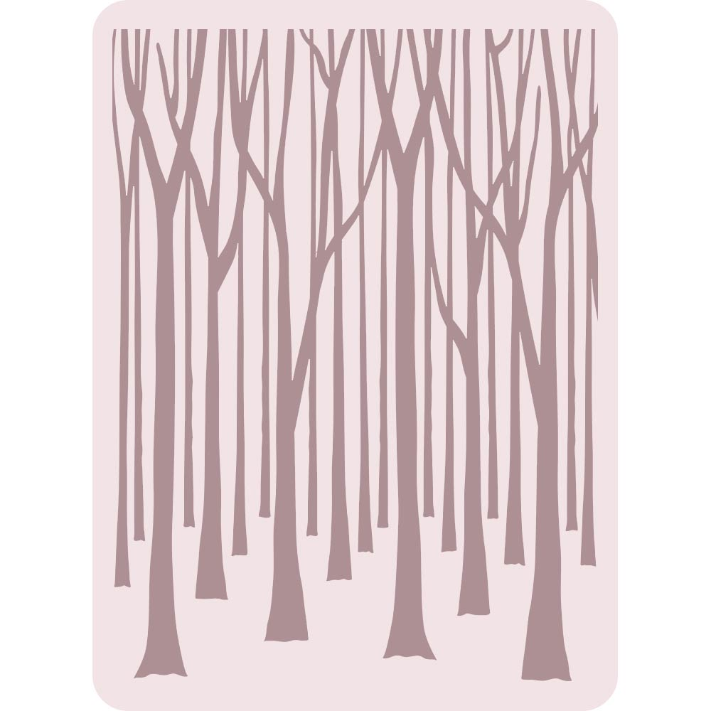 A2 Embossing Folder: Thin Tree Trunks