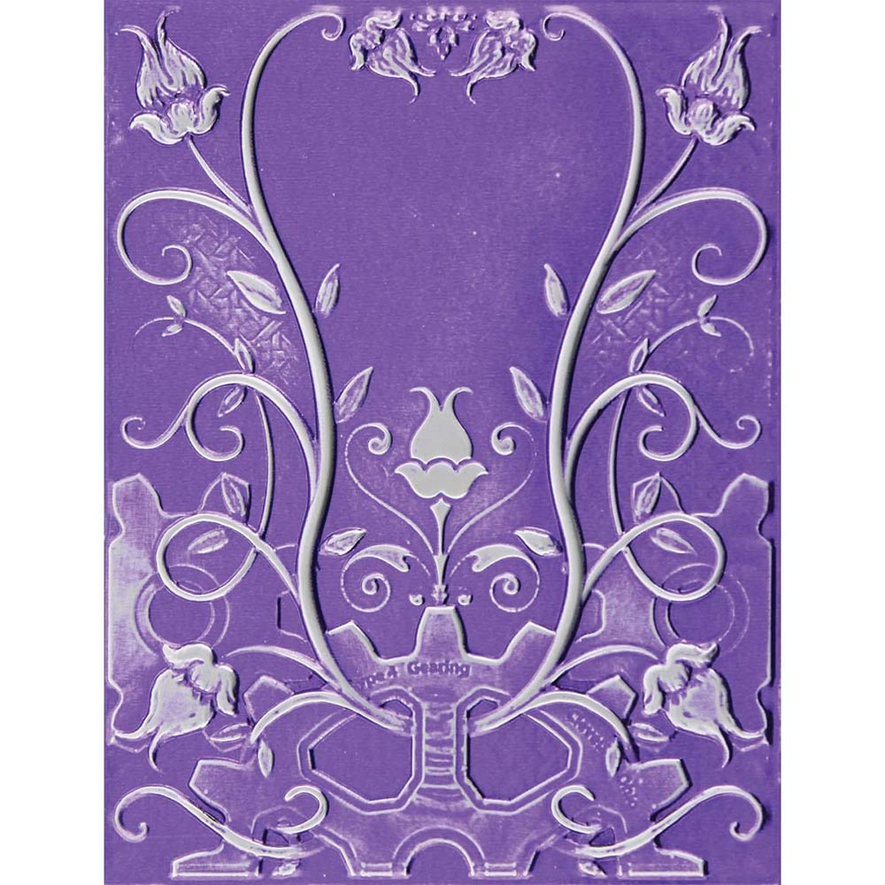 3D M-Bossabilities Embossing Folder: Floral Jewel