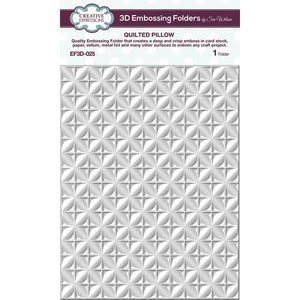 Sue Wilson Quilted Pillow 3D Embossing Folder