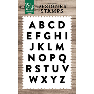 Mason Alphabet 4x6 Clear Stamps
