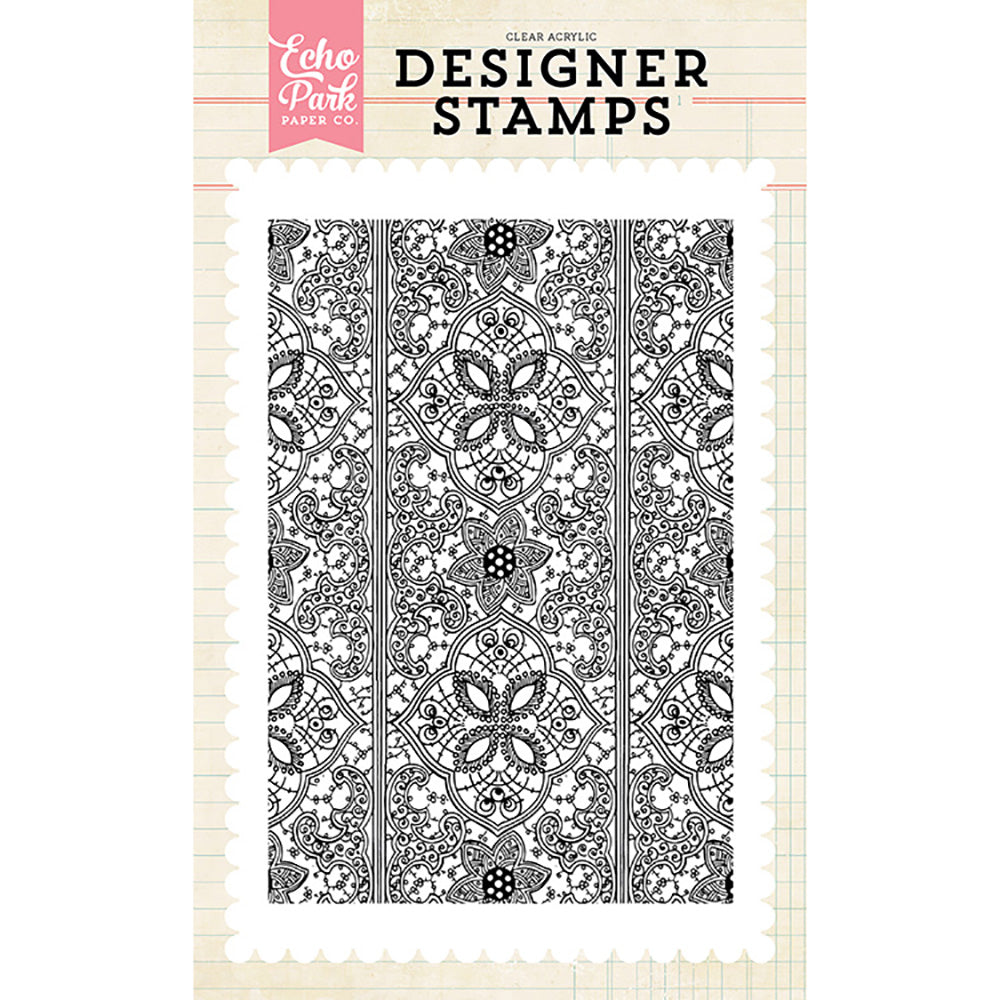 4x6 Clear Stamps: Indy Floral Background