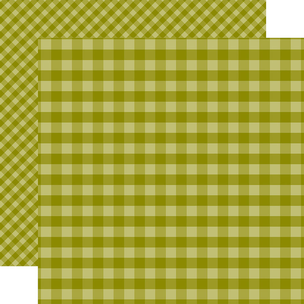 Gingham 12x12 Paper: Green