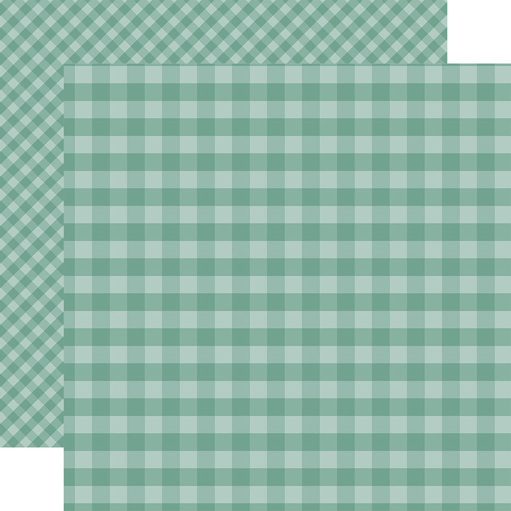 Gingham 12x12 Paper: Teal