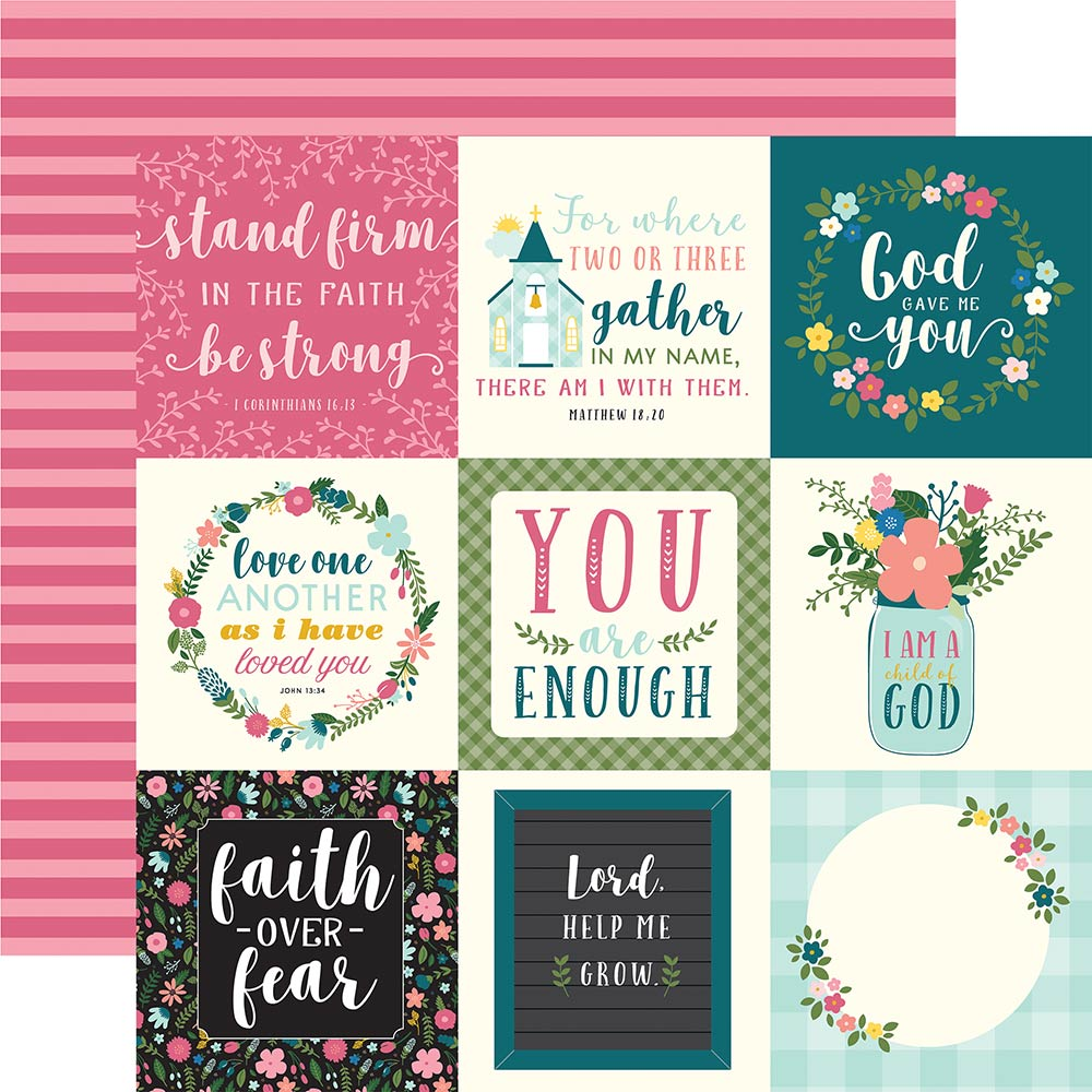 12x12 Designer Paper: Have Faith (4x4 Journaling Cards)