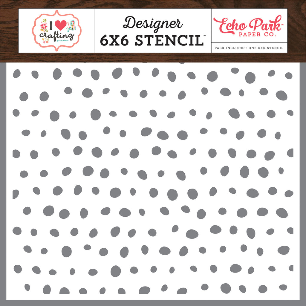I Heart Crafting Painting Dots 6x6 Stencil