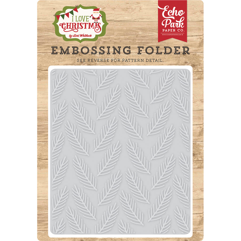 6x5 Embossing Folder: Pine Boughs