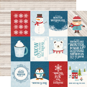 I Love Winter 12x12 Paper: 3x4 Journaling Cards
