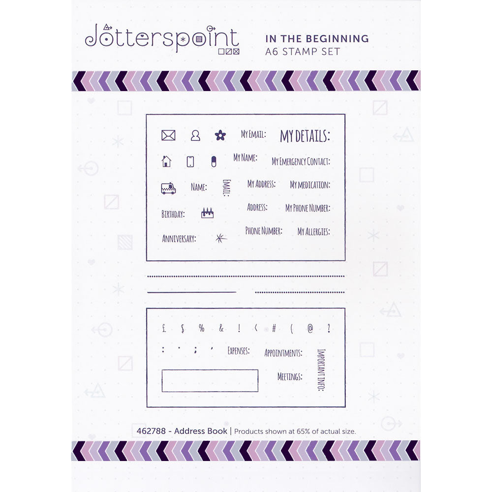 Clear Stamps: In the Beginning (Address Book)