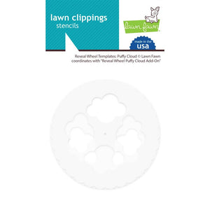 Reveal Wheel Puffy Cloud Templates Lawn Clippings