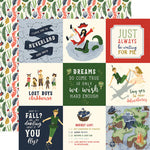12x12 Designer Paper: Lost in Neverland 4x4 Journaling Cards