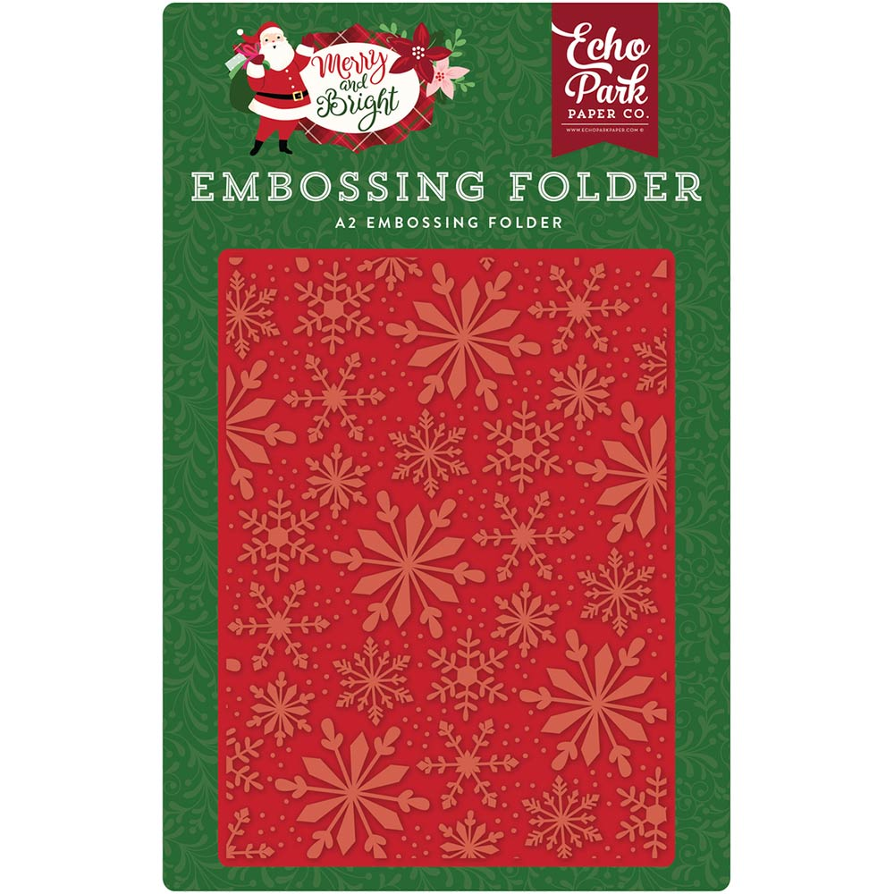 A2 Embossing Folder: Merry & Bright (Frosted Snowflakes)