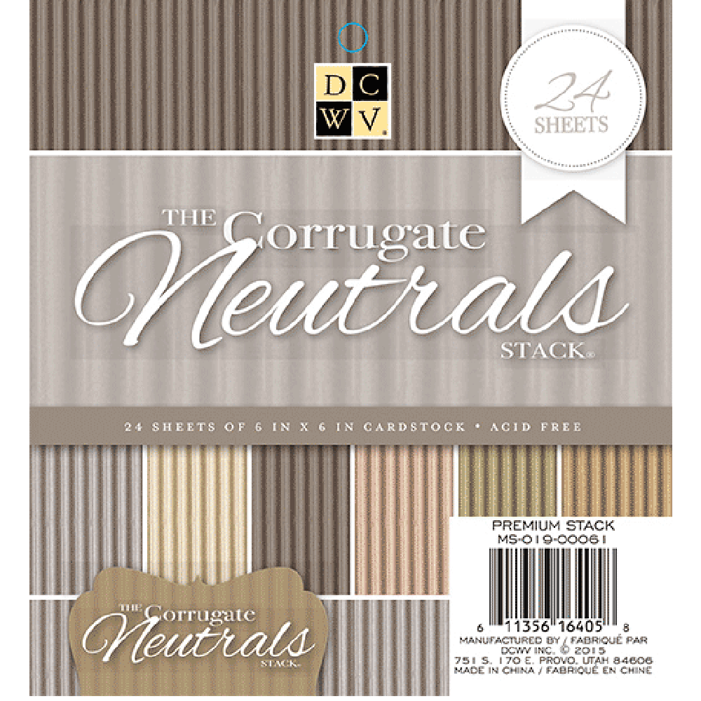 6x6 Paper Pad: Hanging Corrugated (Neutrals)