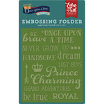 6x5 Embossing Folder: Once Upon a Time (Words)