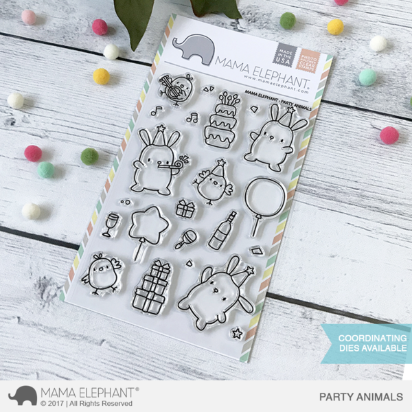 4x6 Clear Stamps: Party Animals