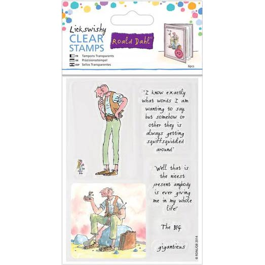 Roald Dahl Lickswishy Clear Stamps
