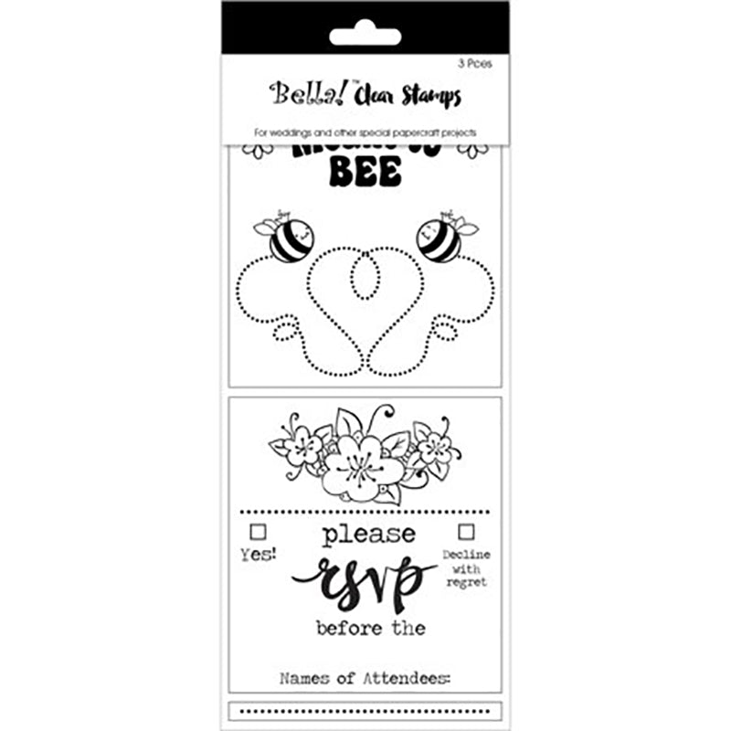 Bella! Wedding Clear Stamps: RSVP