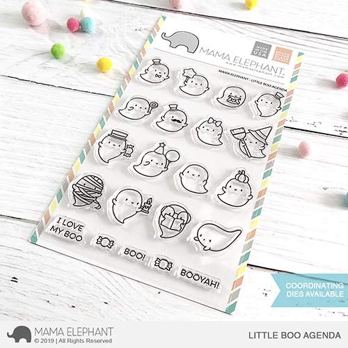 4x6 Clear Stamps: Little Boo Agenda