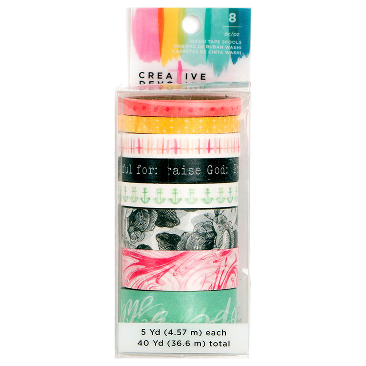 Washi Tape Rolls (8PK): Creative Devotion 1