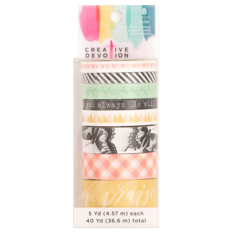Washi Tape Rolls (8PK): Creative Devotion 3