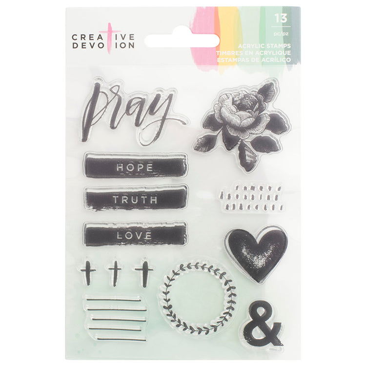 Clear Stamps Set: Creative Devotion (Pray)