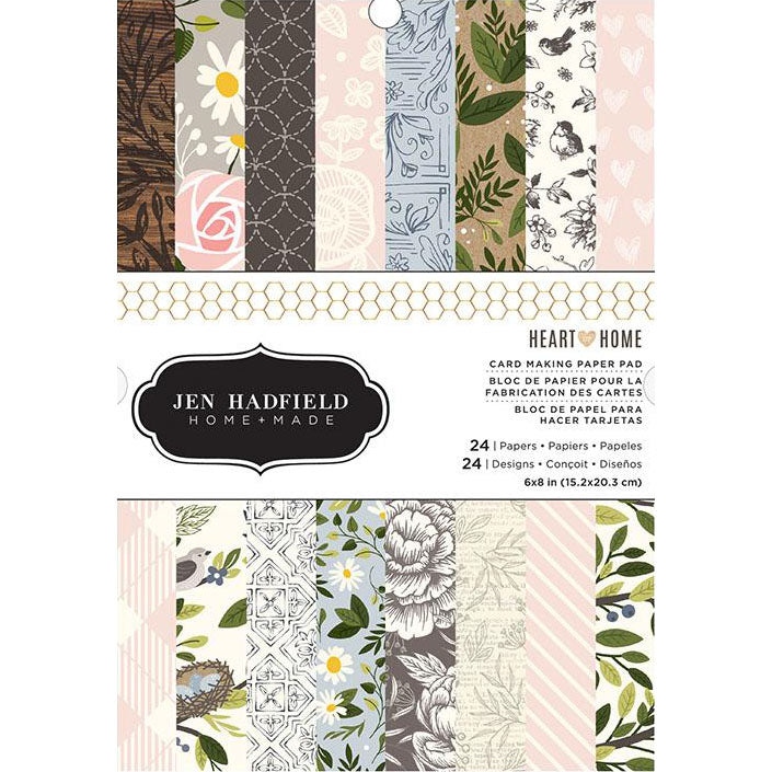6x8 Paper Pad: Jen Hadfield (Heart of Home)