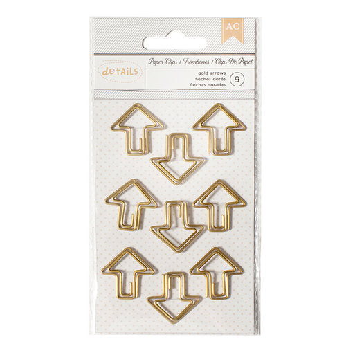 Paper Clips - Gold Arrows