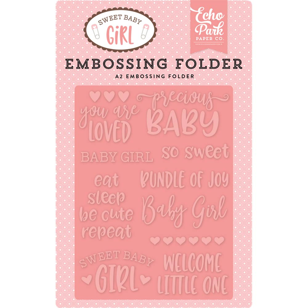 A2 Embossing Folder: Sweet Baby Girl (Precious Baby)