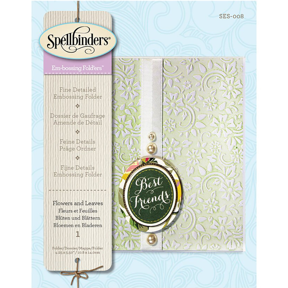 Flowers & Leaves Embossing Folder