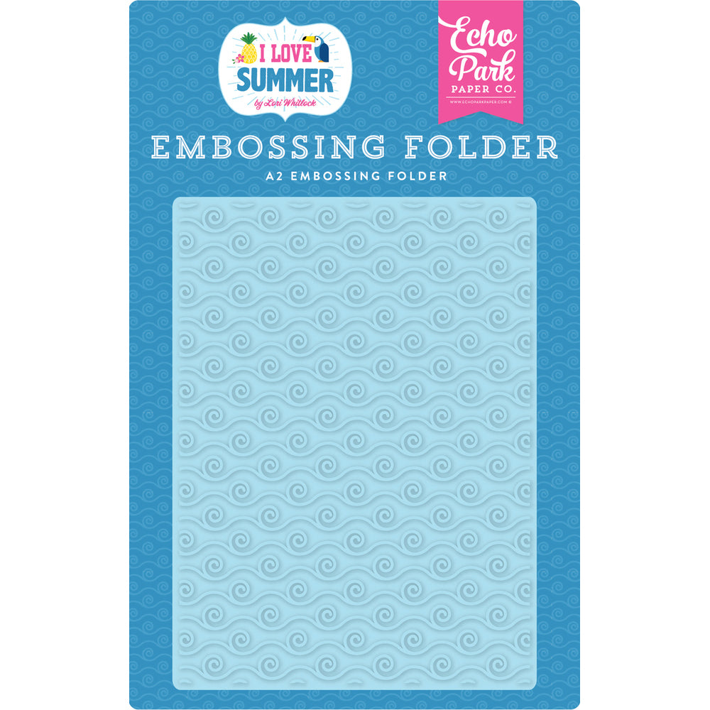A2 Embossing Folder: I Love Summer (Ride the Wave)