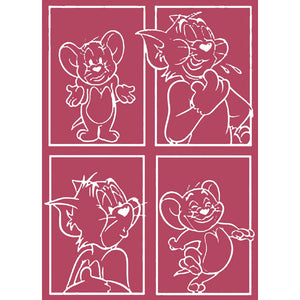 Tom and Jerry Design B A6 Embossing Folder
