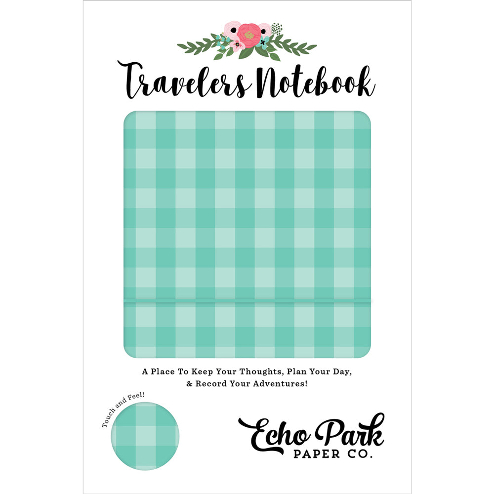 Travelers Notebook: Teal Gingham