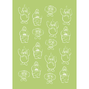 Violent Veg Design B A6 Embossing Folder