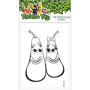 Violent Veg Design A A6 Embossing Folder