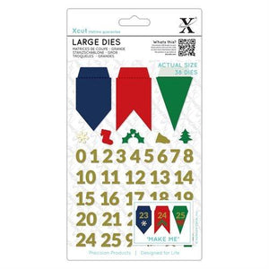 Advent Bunting Large Dies