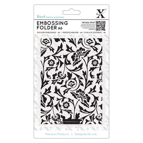 Baroque Florals A6 Embossing Folder