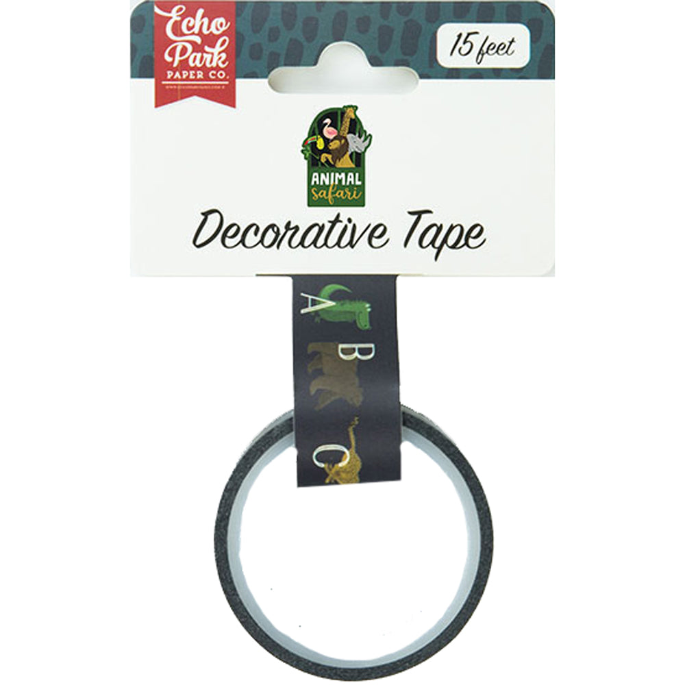Decorative Tape: Animal Safari Alphabet