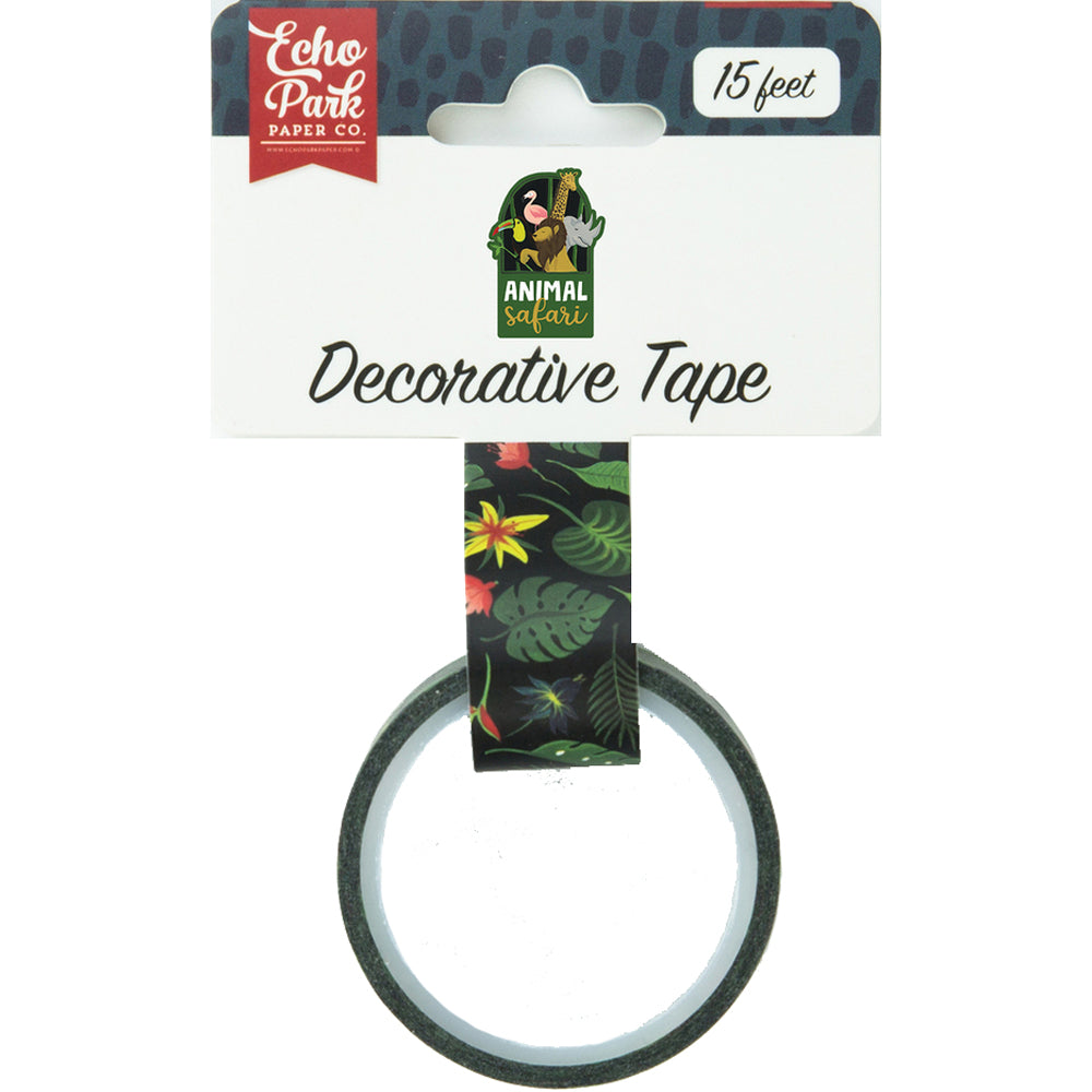 Decorative Tape: Animal Safari Jungle Palms