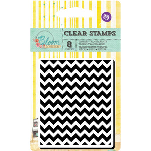 2x3 Clear Stamps: Bloom Girl (Chevron)