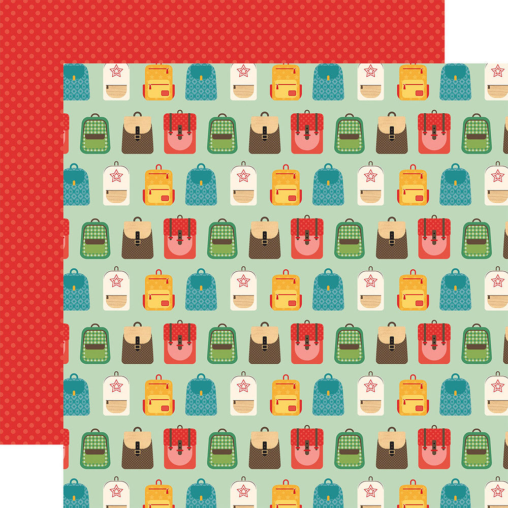 Back to School 12x12 Paper: Backpacks