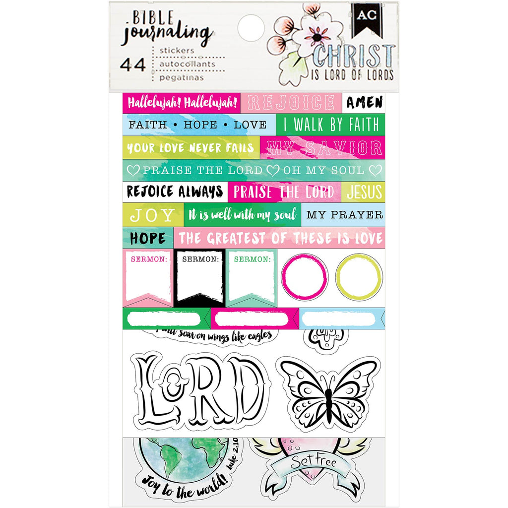 Stickers Pack: Bible Journaling (Watercolor)